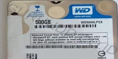 Western Digital Blue slim 500 GB busy no detect