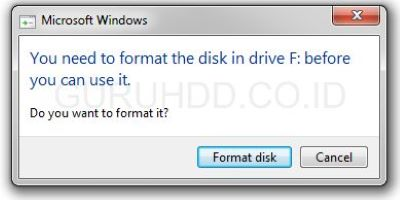 Recovery Harddisk Minta Format